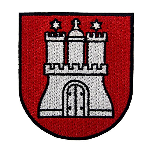 CasStar Aufnaeher Aufbuegler Patches Applikation Hamburg Wappen
