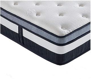 Vesgantti Boxtop Matelas 26cm Épaisseur Ressort Ensachés en Mousse Mémoire de Forme 7 Zones de Confort CertiPUR-US (120x190)