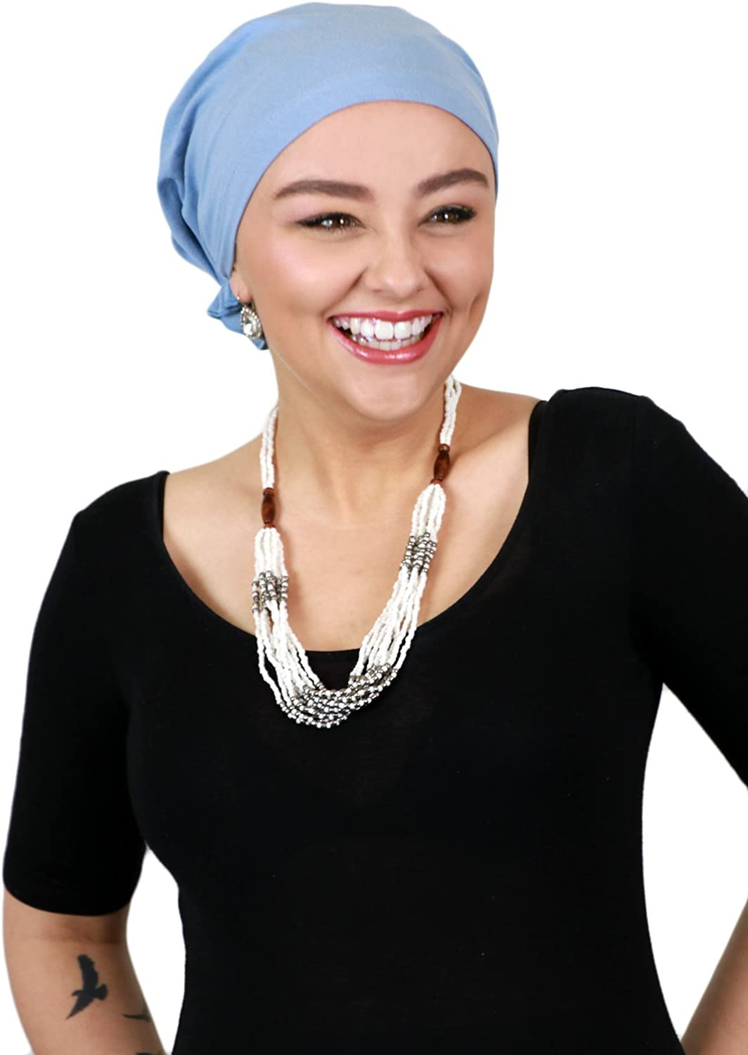 Hats, Scarves and More Celeste Chemo Beanie Pretied Headscarf for Cancer Patients Cotton