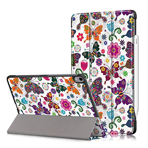 New iPad 10.8 2020/iPad Air 4 Tablet Cover,Heavy Duty Cover PU Leather Case with Protection with Auto Wake Up/Sleep Lightweight Shell for New iPad 10.8'/iPad Air 4th Generation Tablet PC (butterfly)