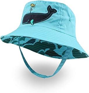 XIAOHAWANG Baby Boy Bucket Toddler Kids Sun Hat UPF 50+ Wide Brim Outdoor Beach Caps Play hat