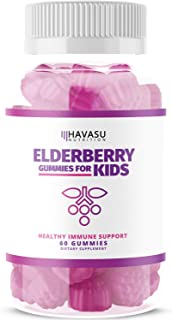 Sponsored Ad - Havasu Nutrition Elderberry Gummies - Supports Immune System Health - Made with Plant-Based Pectin - No Gel...