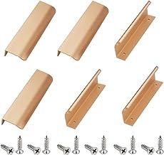 Moderne stijl vinger rand trekken, 6 Pack aluminium 150mm keuken handgrepen profiel handvat gouden kast handgrepen, deurgr...