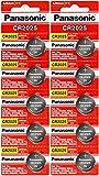 Panasonic - 10 pilas de botón de 3 V de litio CR2025