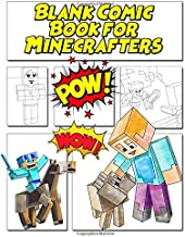 Blank Comic Book for Minecrafters: Create Your Own Comic Book Strip, Variety of Templates for Comic Book Drawing for kids, blank comic book for kids to write their own Minecraft stories and drawing