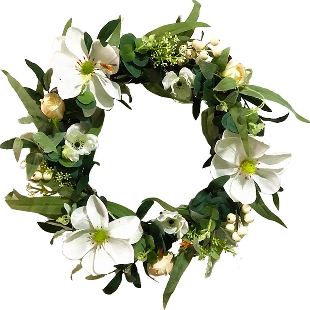 whl Hanging Minneapolis Mall Limited time sale Wreath Eucalyptus Spring Flower Leaves