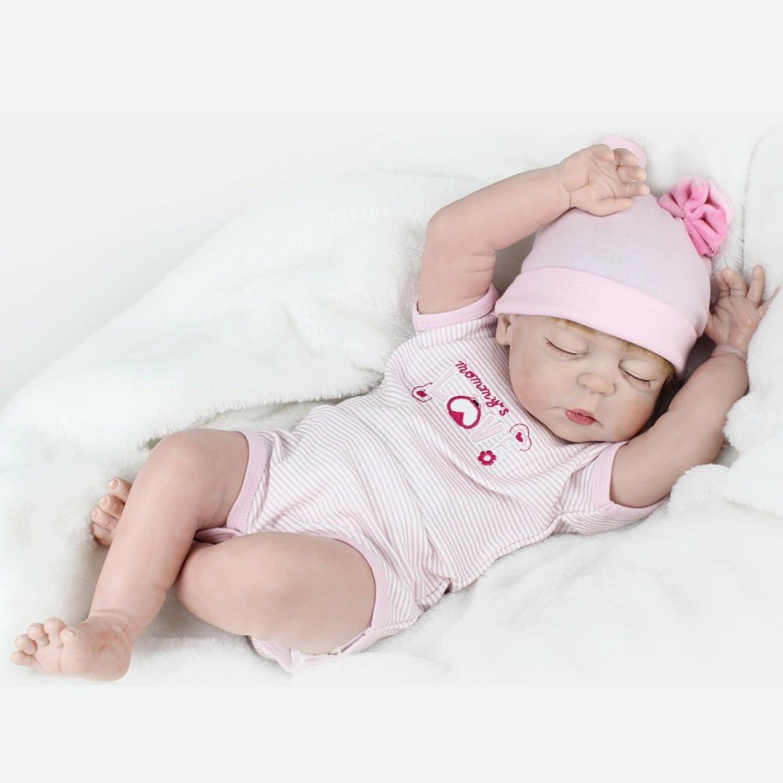 JHGFRT Simulation Reborn Baby Puppe Silikon Realborn Baby Kind Puzzle Früherziehung Spielzeug Geburtstagsgeschenk 55 cm B07NSRLJ8B Haltbarkeit  | Sale