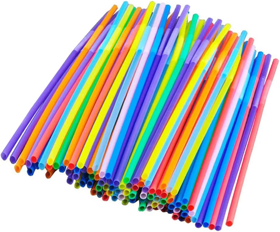 Multi-Colored Flexible Max 57% OFF Disposable Drinking Straws List price Extra Bendable