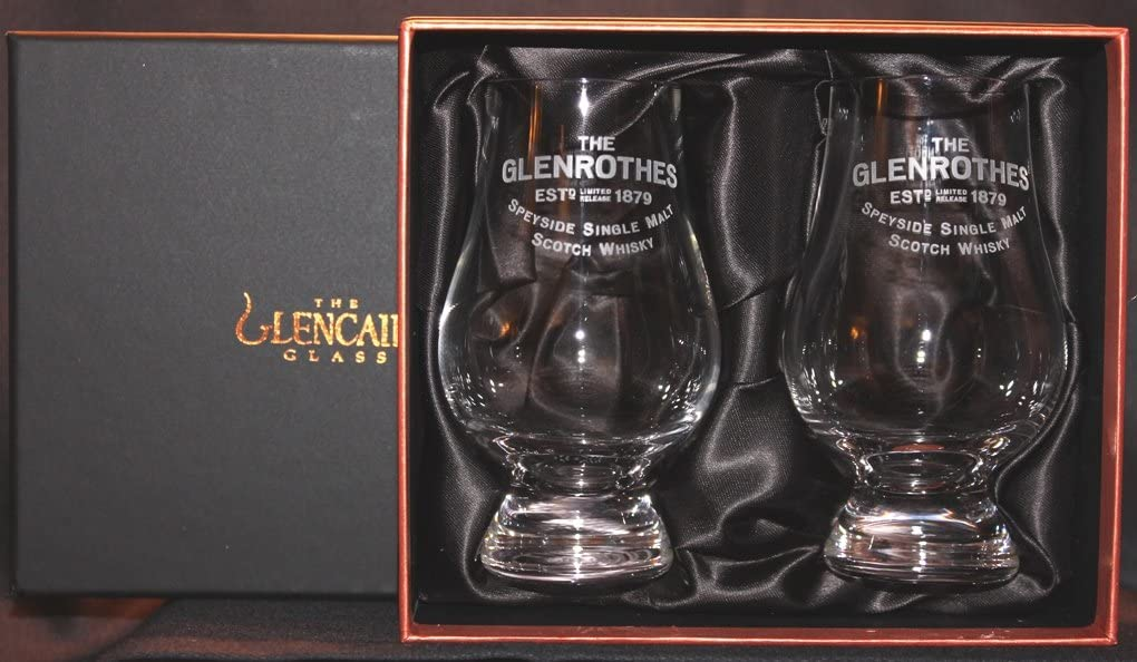GLEN ROTHES TWO GLASS GLENCAIRN SCOTCH WHISKY AND PRE BLACK Limited price GOLD Sacramento Mall