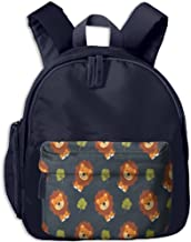 Cartoon Lion Tree Children Fashion Adjustable Oxford Backpacks Mini School Bag