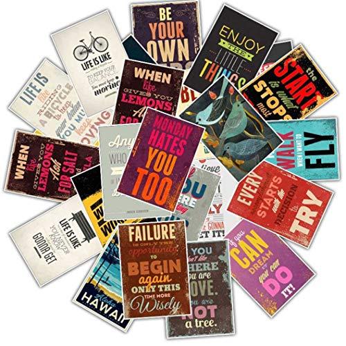 WFAL Nieuwigheid Inspirationele Motto Poster Stickers Waterdichte PVC Poster Stickers Bagage Laptop Gitaar Koelkast Muurdecoratie Stickers Eén maat H01