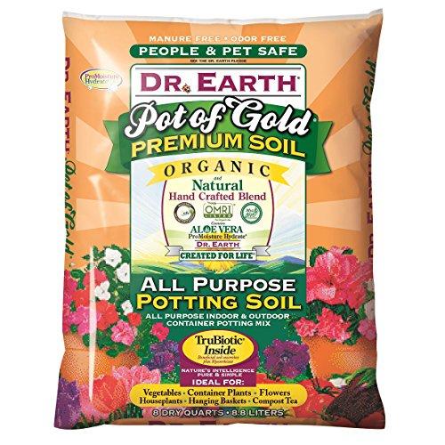 Dr. Earth 749688008136 813 Gold Premium Potting Soil, 8 Quart