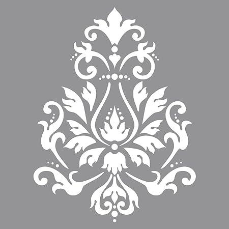 Rayher Stencil Per Pareti Motivo Broccato Stampo Per Pittura Shabby Chic Vintage Decorazione Murale 30 5 X 30 5 Cm 1 Pz Amazon It Casa E Cucina