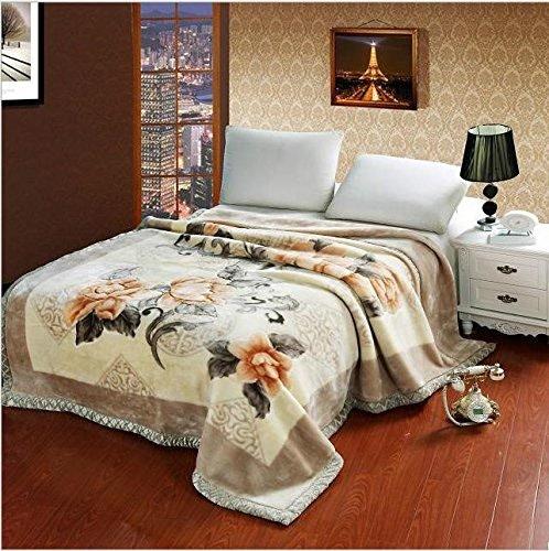 WYFC Couverture plus épais de Raschel double couverture de cadeau de mariage super doux Couvert de lit d'hiver . d . 150200
