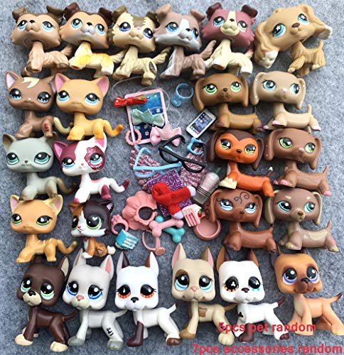 USALPS lps Pets 5pcs Random and lps Accessories 7pcs Random lps Cats and Dogs Kids Collectable Gift