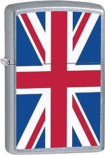 Zippo Lighter: United Kingdom Flag - Street Chrome 79935