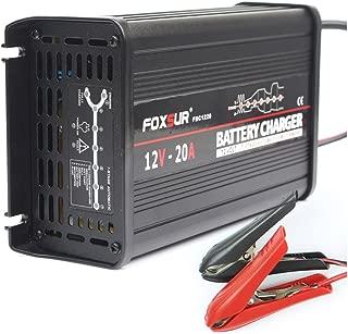 FOXSUR 12V 20A Cargador de batería inteligente