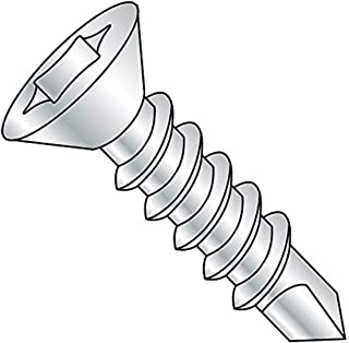 82 Degree Flat Head Zinc Plated Pack of 100 Steel Thread Cutting Screw #4-40 Thread Size Type F 1//2 Length Phillips Drive