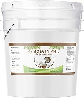 Coconut Oil (1 Gallon) by Pure Organic Ingredients, Ultra Pure, Refined, Filtered, Food Grade, Non-Hydrogenated, No Coconut Flavor or Scent, Non-GMO