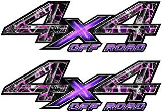 Speed Demon Hot Rod Shop 4x4 Off Road Camo Decals Pink Skulls Camouflage 4WD Truck Stickers Set of 2 OR4