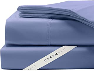 Dreamfit Sheet Sets All Degree Styles, Colors, and Sizes - Made in The USA with The Dreamflex Corner Straps (King Degree 2, Blue)