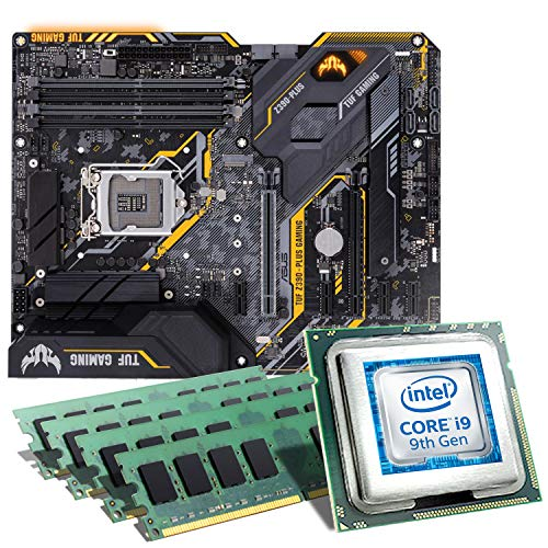 Intel Core i9-9900K / ASUS TUF Z390-PLUS Gaming Mainboard Bundle / 64GB | CSL PC Aufrüstkit | Intel Core i9-9900K 8X 3600 MHz, 64GB DDR4-RAM, Intel UHD Graphics 630, GigLAN, 7.1 Sound, USB 3.1