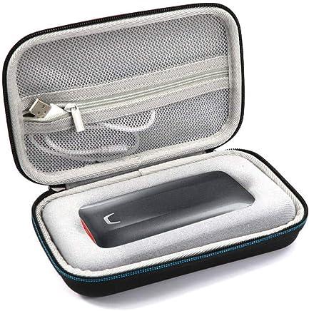 Masiken - Custodia rigida da viaggio per Samsung SSD portatile X5 1TB 2TB 500GB Thunderbolt 3 esterno SSD, custodia protettiva Nero Cruz V2 Fresh Foam - Trova i prezzi più bassi