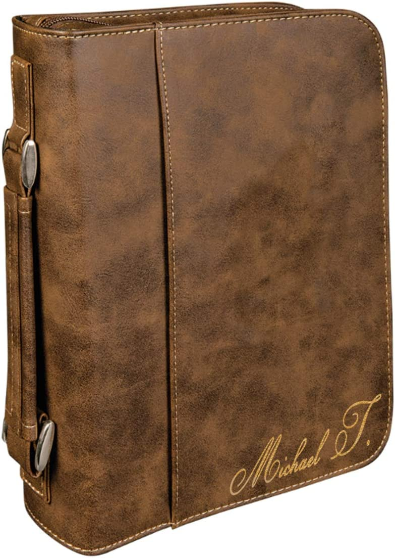 Personalized Rapid rise Large Leatherette Book online shopping Bible with and Handle Cover