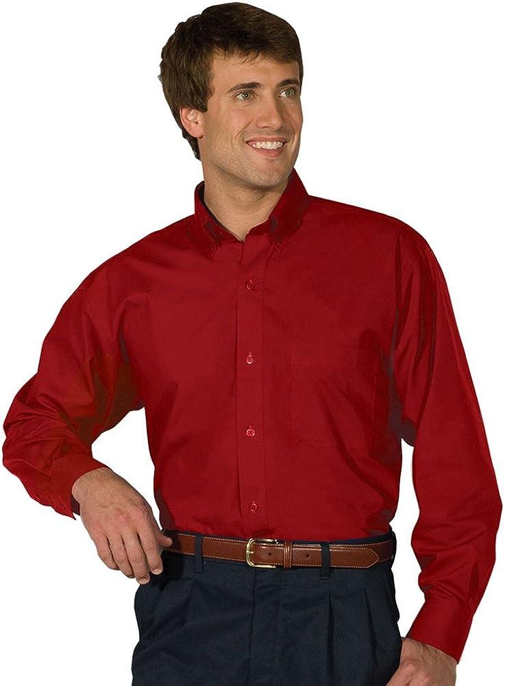 Mens Long-Sleeve Poplin Shirt