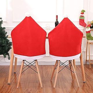 Feelava Funda para silla de Navidad, 4 caminos de mesa, 50 x 60 cm, lavable, decoración clásica temática navideña, 1 unidad de 176 x 34 cm, caminos de mesa de Papá Noel para fiestas en casa
