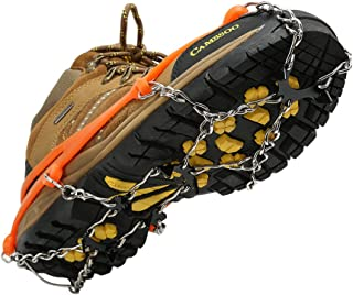 Cosyzone Traction Cleats Micro Ice Spikes for Shoe/Boots Safe for Walking, Jogging, Climbing and Hiking