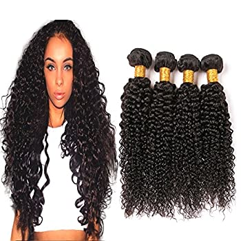Malaysian Kinky Curly Hair 4 Bundles 12 14 16 18 Inch 9A 100% Unprocessed Virgin Human Hair Weave Natural Color