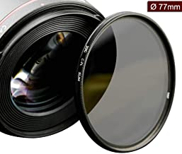 77mm Circular Polarizers Filter Ultra Slim 12 Layers Multi Coated CPL Filter for Canon EF 16-35mm f/4L is USM,EF 70-200mm f/2.8L is II USM,EF 100-400mm f/4.5-5.6L is II USM Lens