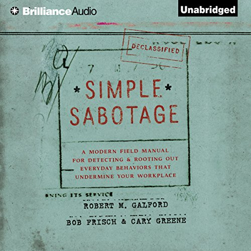 Simple Sabotage audiobook cover art