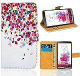 FoneExpert® LG G3 Handy Tasche, Wallet Hülle Flip Cover Hüllen Etui Ledertasche Lederhülle Premium Schutzhülle für LG G3