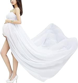 Maxi Vestido de Maternidad Elegante de Gasa Apoyo Fotográfico para Mujeres Embarazadas Tube Maternity Photography Dress