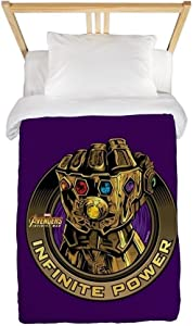 CafePress Avengers Infinity War Gold Gauntl Twin Duvet Cover, Printed Comforter Cover, Unique Bedding, Microfiber