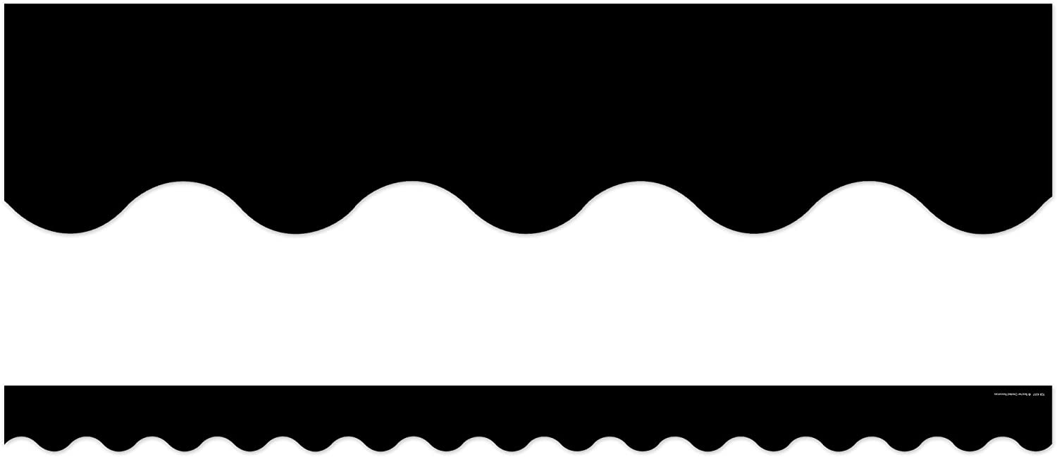 Mesa Mall Teacher Created Resources Black We OFFer at cheap prices Border Trim Scalloped 43