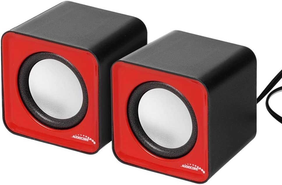 Audiocore AC870 Compact Stereo Speaker 2.0 Red RMS Watt x PC 3 Max 51% OFF 4 years warranty