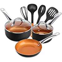 9-Piece Shineuri Non-Stick Copper Cookware Set