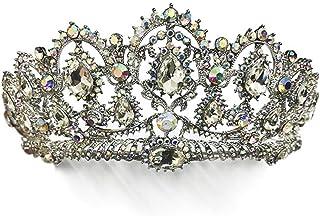 FELICILII Lussuoso Strass Wedding Corona Corona Sposa Accessori Sposa