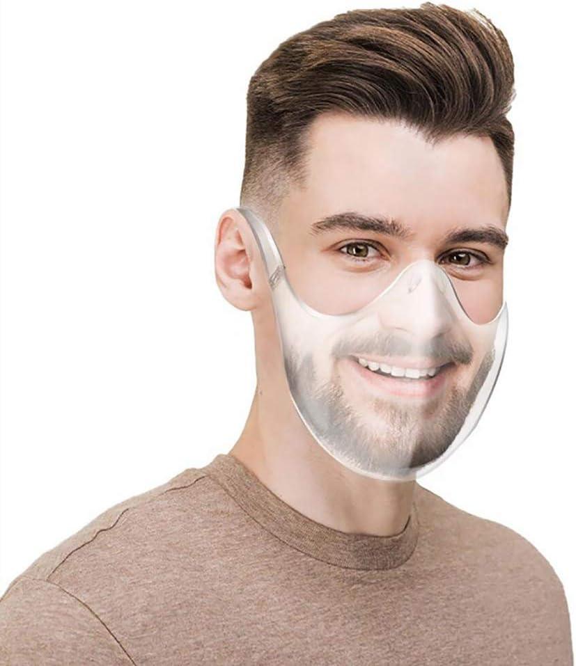 Adulti Clear Face/_Shields Occhiali Riutilizzabili in Plastica Durevole Man And Women Stylish Clear Shield for Anti-Saliva