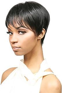 Fashion exotic elegant fluffy short straight wigs for women brown SW0110