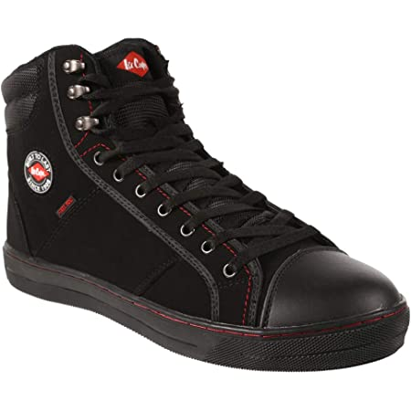 Lee Cooper Unisex Workwear SB/SRA Retro Baseball Boot Work Safety Shoe Black 3 UK