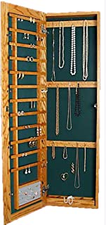 Mingo Custom Woods Wall Mounted Jewelry Cabinet Recessed Large Magnetic  Lock White