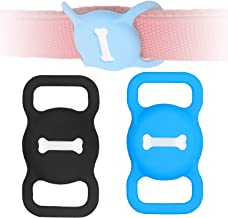 Protective Case for Air Tag Dog Collar Holder,2-Pack Silicone Air Tag Holder for Pets Portable...