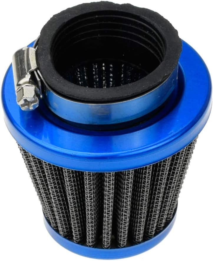HIAORS Motorcycle 38mm Air Filter for SSR 125 125cc 110cc Coolster CRF Dirt Pit Bike GY6 50cc Scooter Moped QMB139 Engine Parts Blue