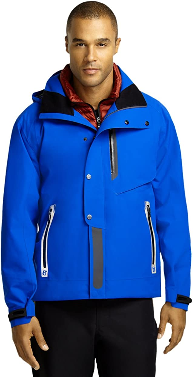 Brooks Brothers ProSport Mens Two in One Insulated Vest Ski Jacket Blue Medium