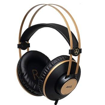 AKG Pro Audio K92 Over-Ear, Closed-Back, Studio Headphones, Matte Black and Gold