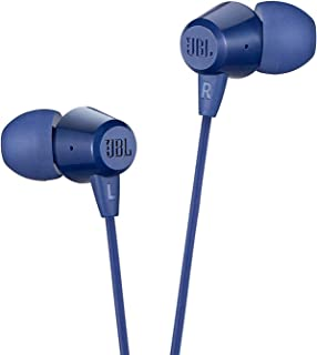 JBL C50HI by Harman in-Ear Headphones with Mic (Blue)